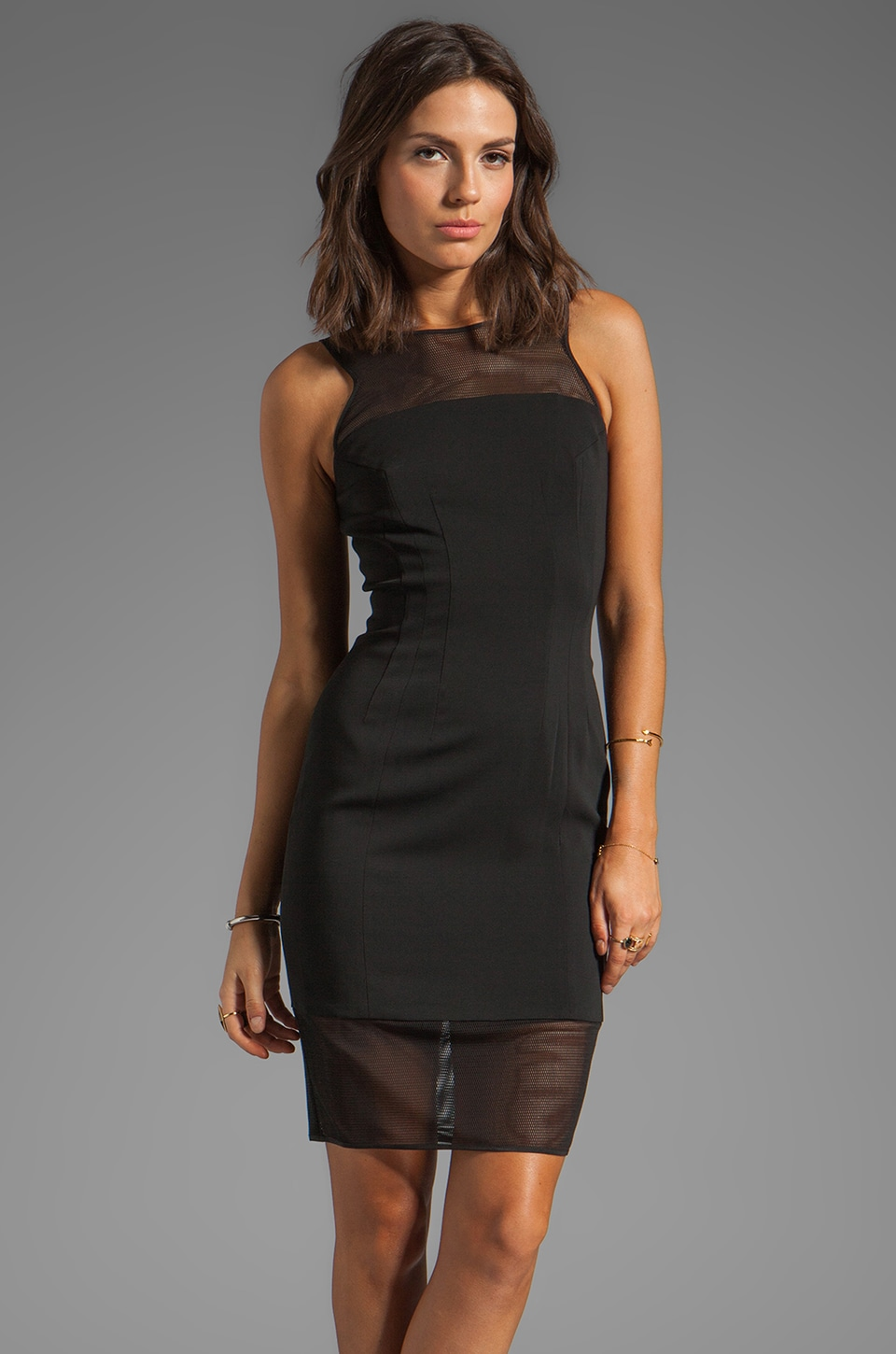 Jay Godfrey Dorchester Dress in Black