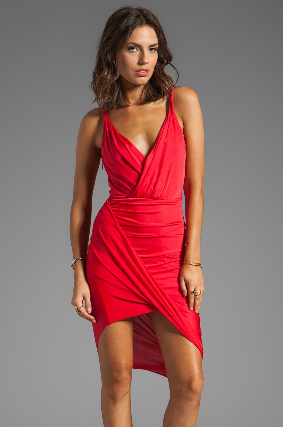 Jay Godfrey Viceroy Dress in Red