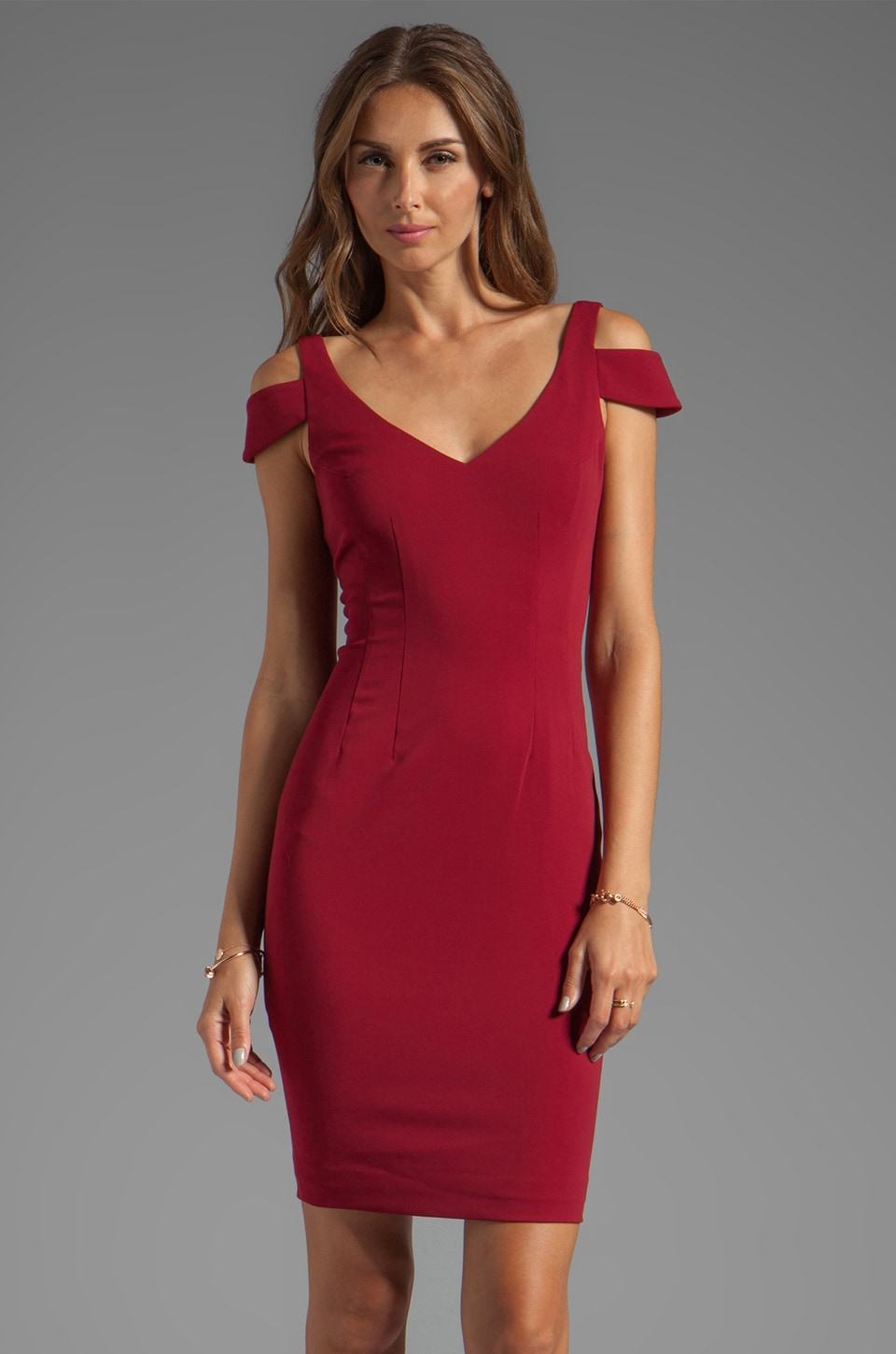 Jay Godfrey El Camino Dress in Wine