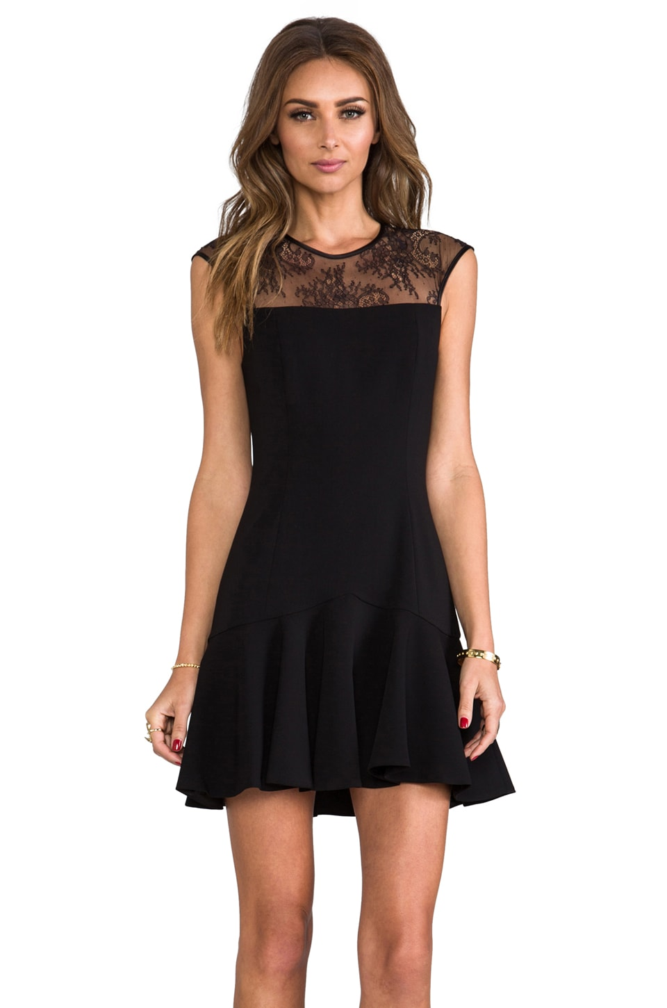 Jay Godfrey Trudeau Dress in Black/Black