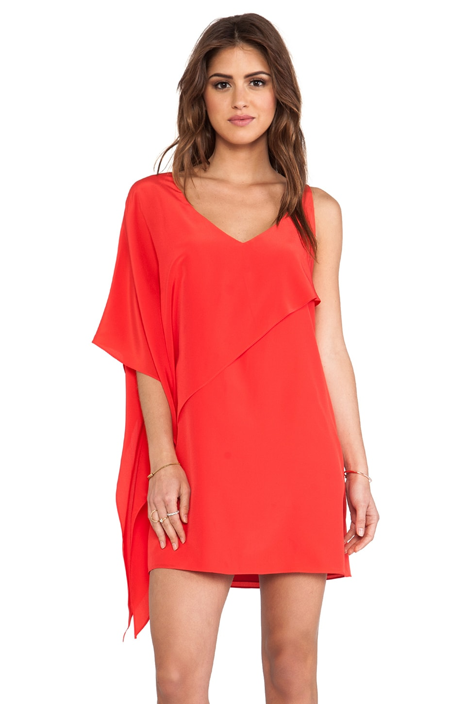 Jay Godfrey Nugent Dress in Red