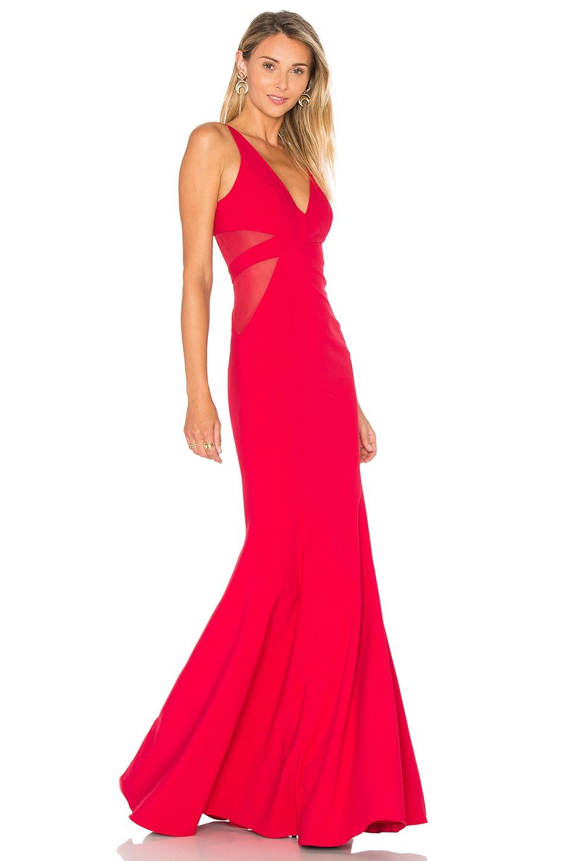 Jay Godfrey Rockefeller Gown in Deep Red & Deep Red | REVOLVE