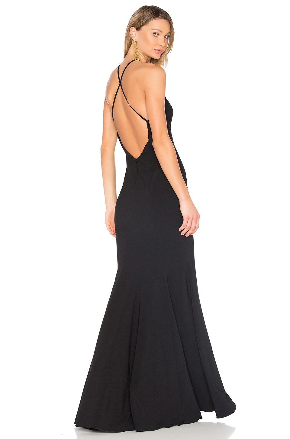 Jay Godfrey Kirani Gown in Black