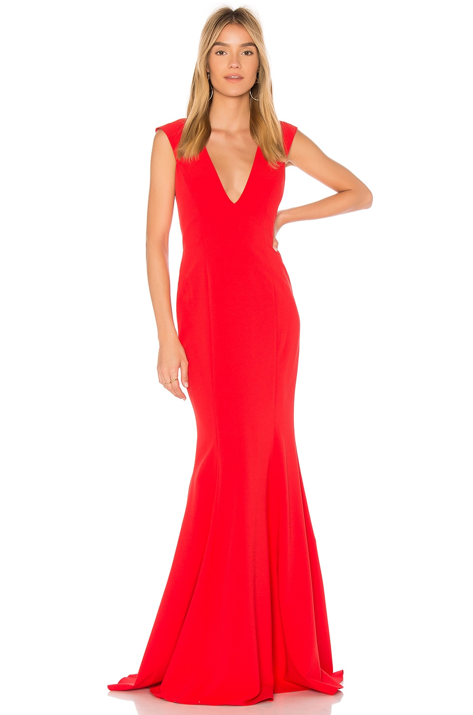 Jay Godfrey Victoria Gown in Tomato Red