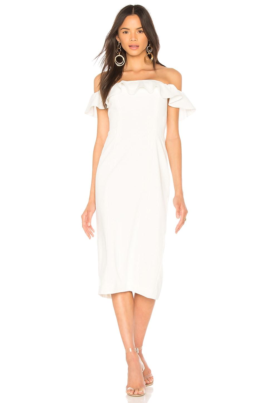 Jay Godfrey Rollins Midi Dress in Light Ivory