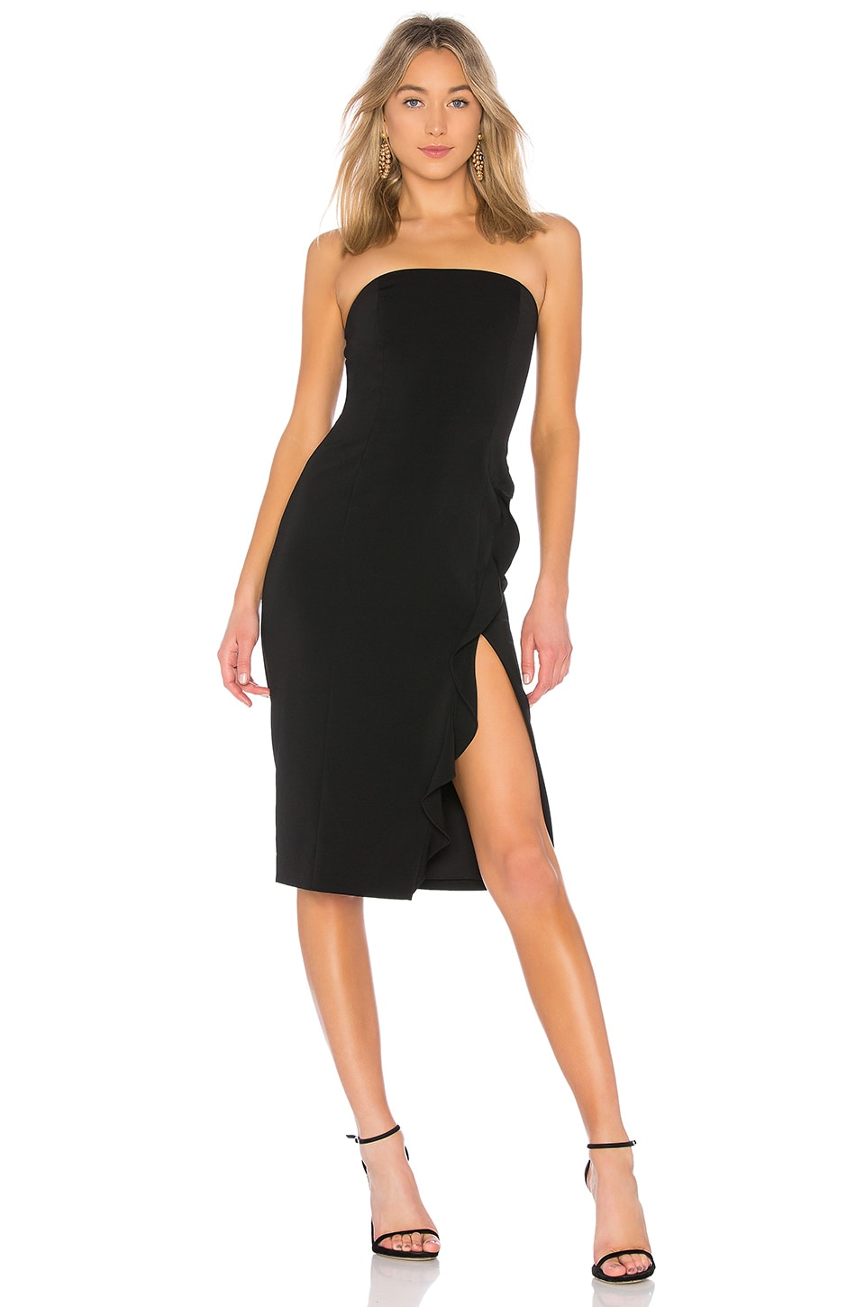 Jay Godfrey Memphis Midi Dress in Black