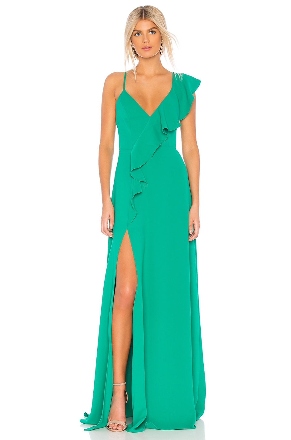 Jay Godfrey Emil Gown in Vibrant Green