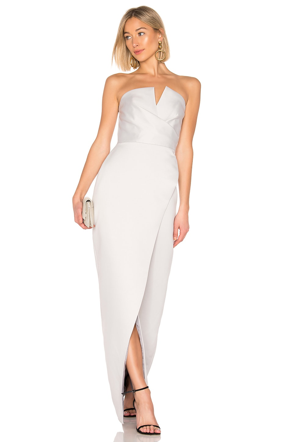 Jay Godfrey Darcy Gown in Silver
