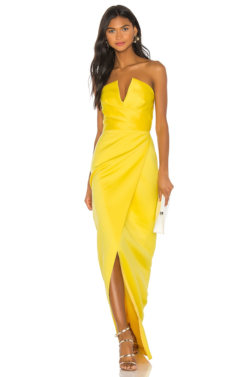 Jay Godfrey Darcy Gown in Bright Yellow