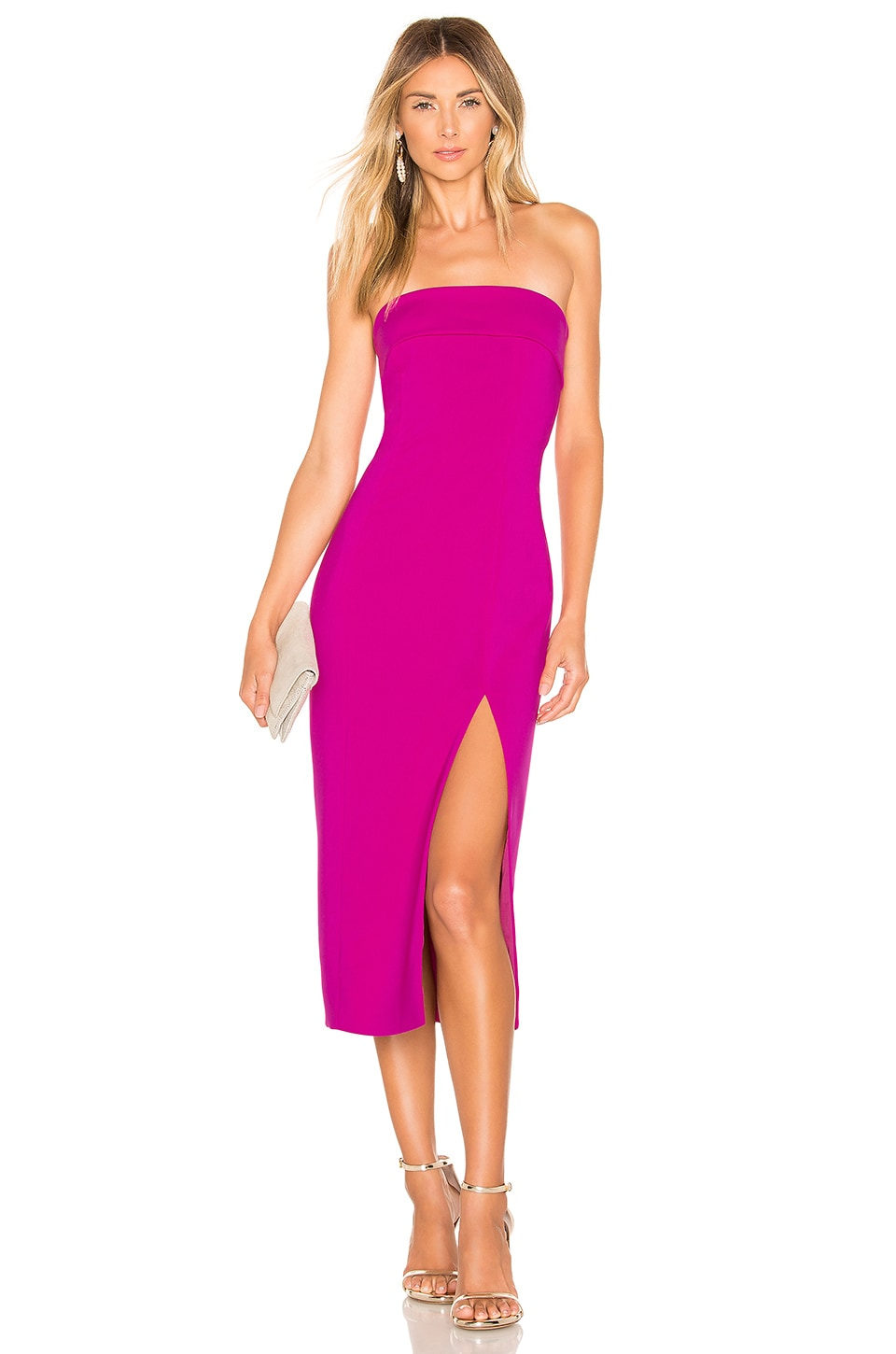Jay Godfrey Kerr Dress in Magenta
