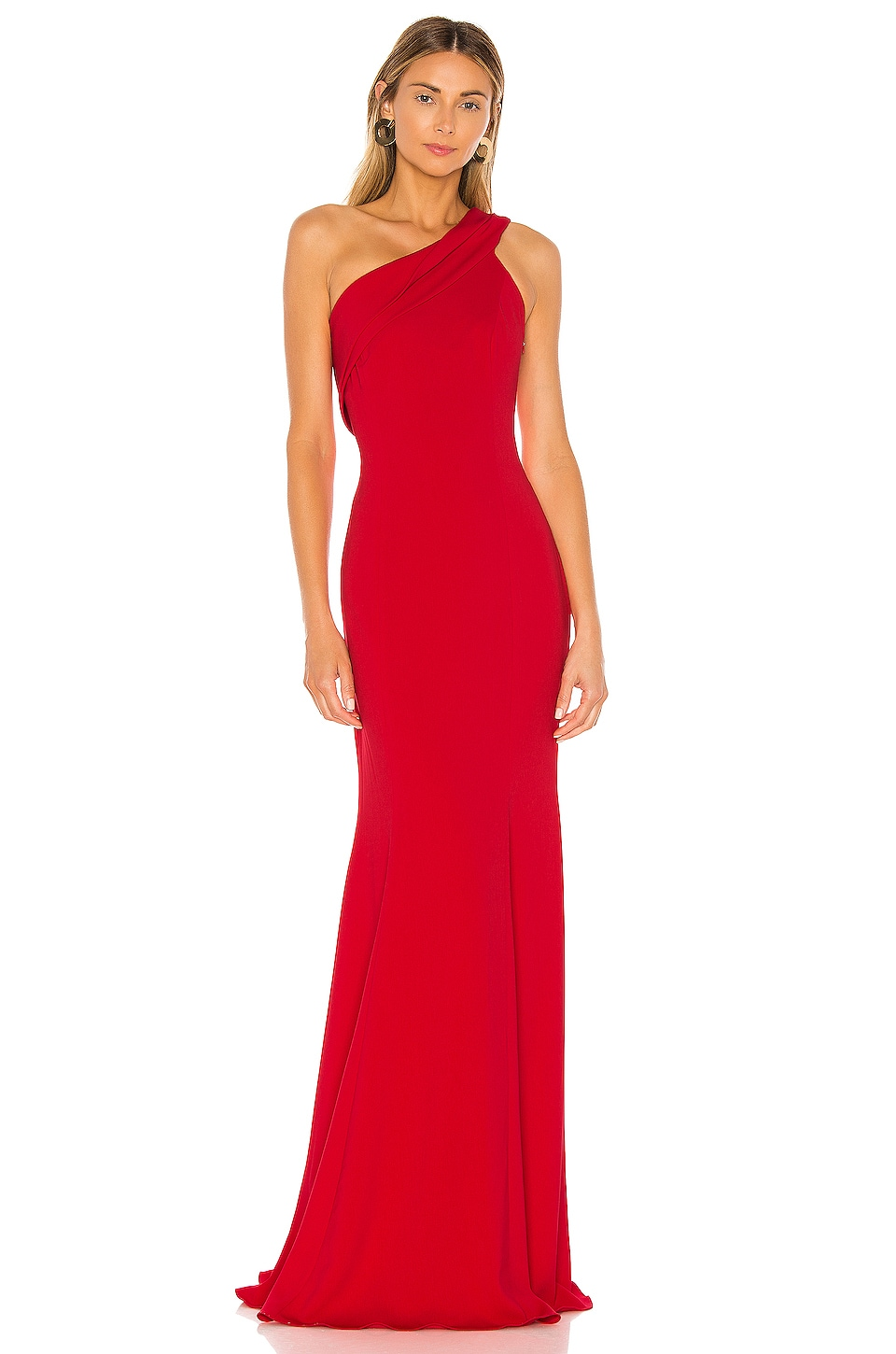 Jay Godfrey Stone Gown in Bold Red