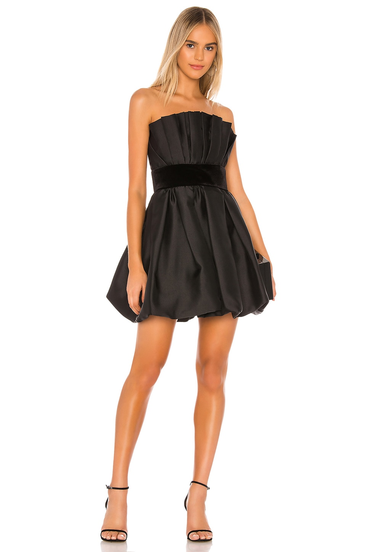 Jay Godfrey Lola Dress in Black & Black