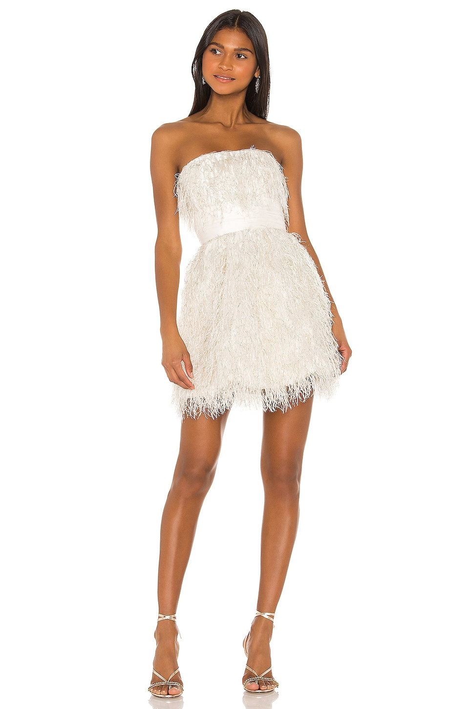 Jay Godfrey Remi Mini Dress in Ivory Multi & Light Ivory