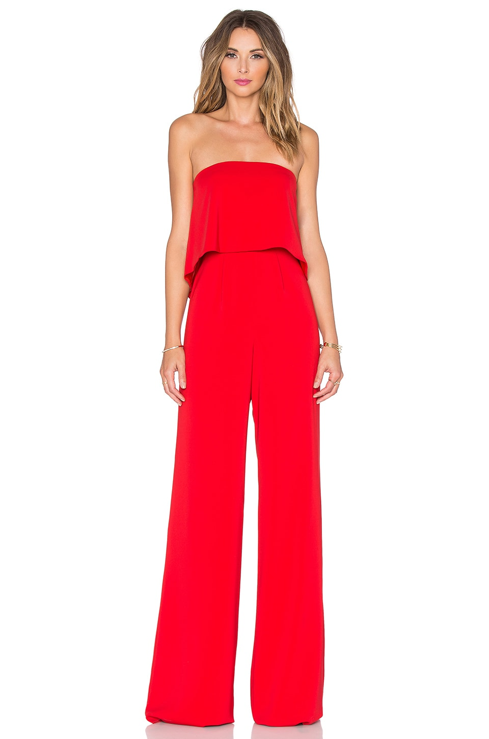 Jay Godfrey Moore Jumpsuit in Red
