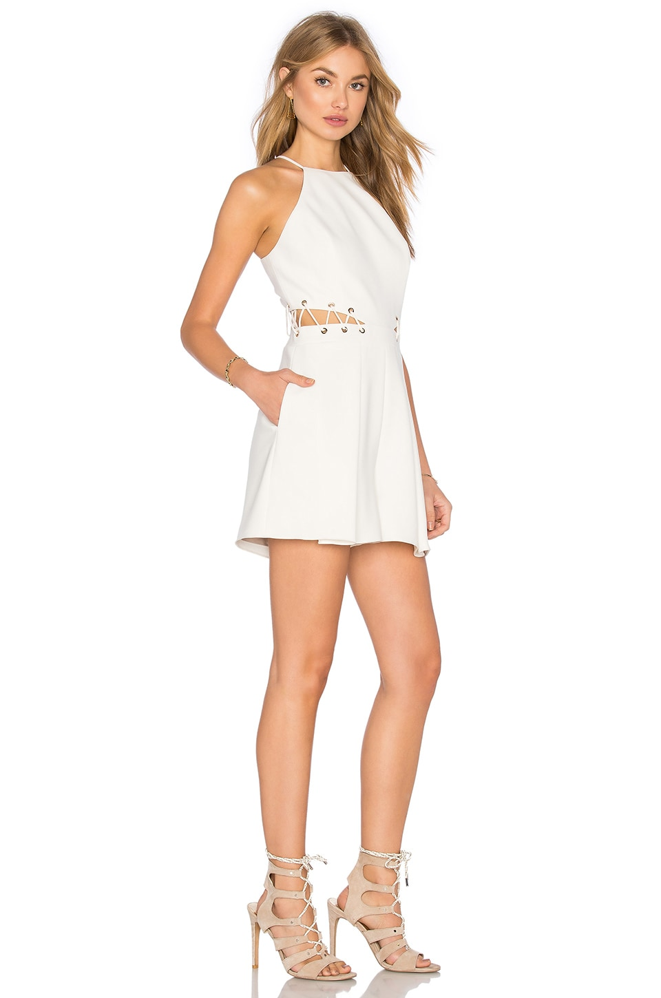 Jay Godfrey Millar Romper in Light Ivory