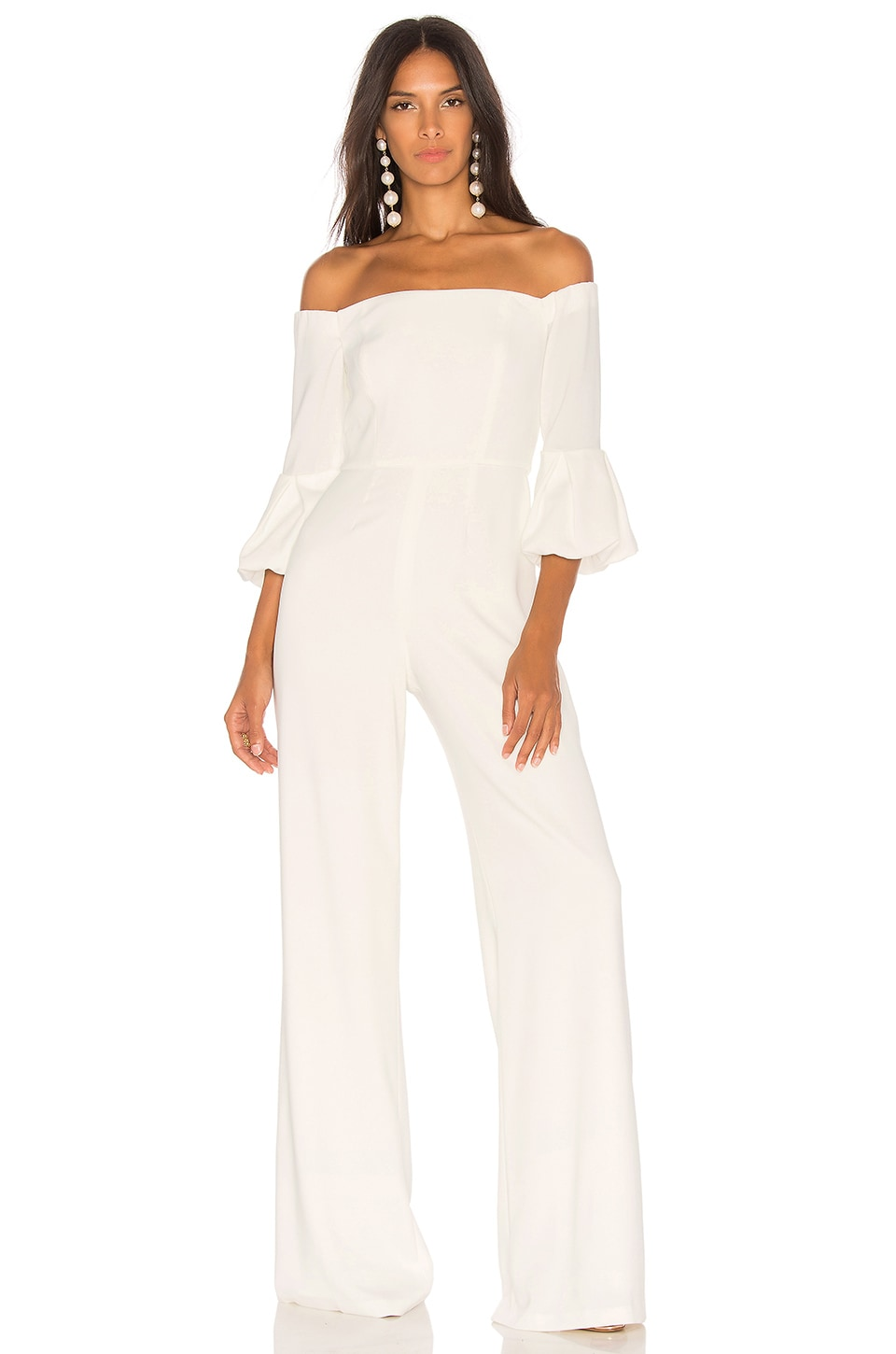 Jay Godfrey Griffith Jumpsuit in Ivory