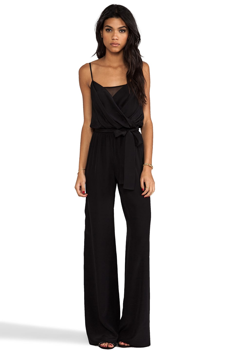 Jay Godfrey Keys Jumpsuit in Black