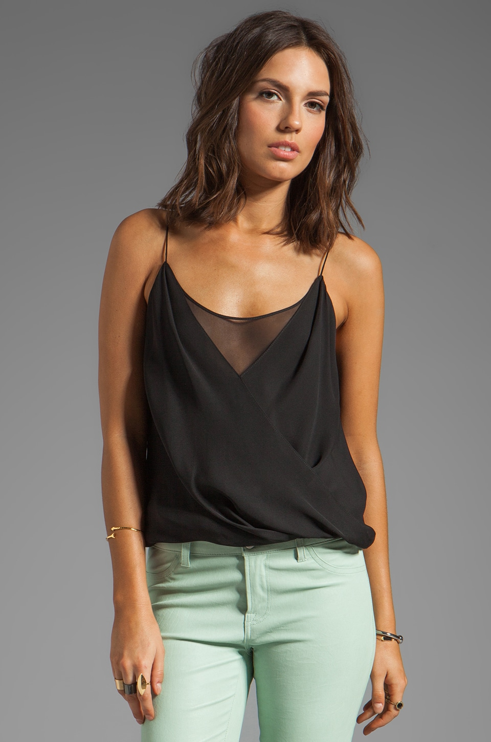 Jay Godfrey Shore Layered Tank in Black