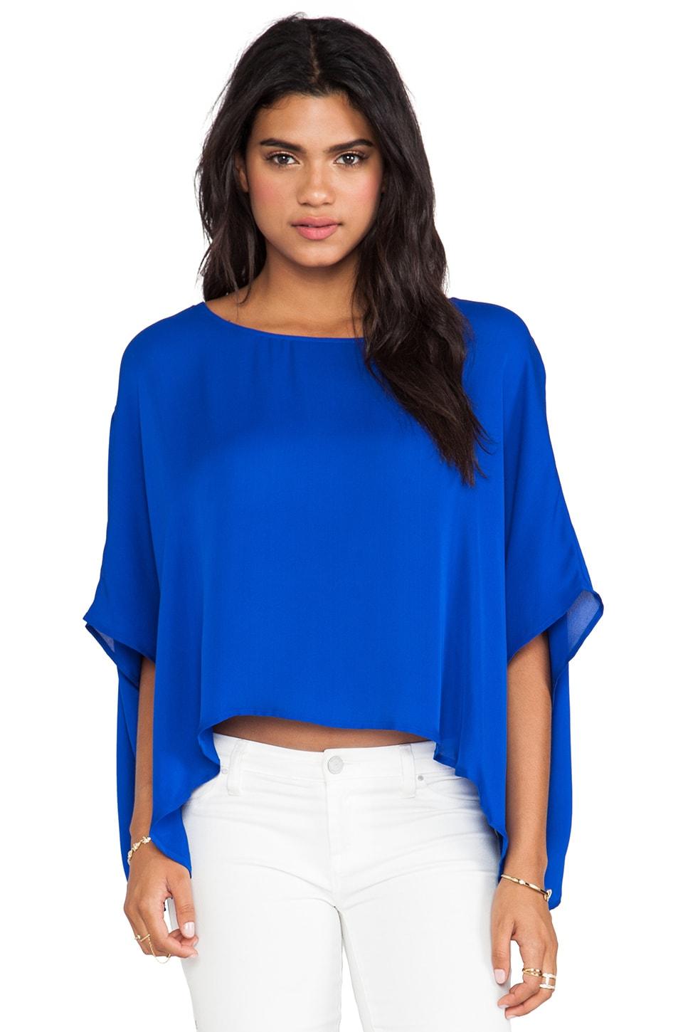 Jay Godfrey Stratos Blouse in Cobalt