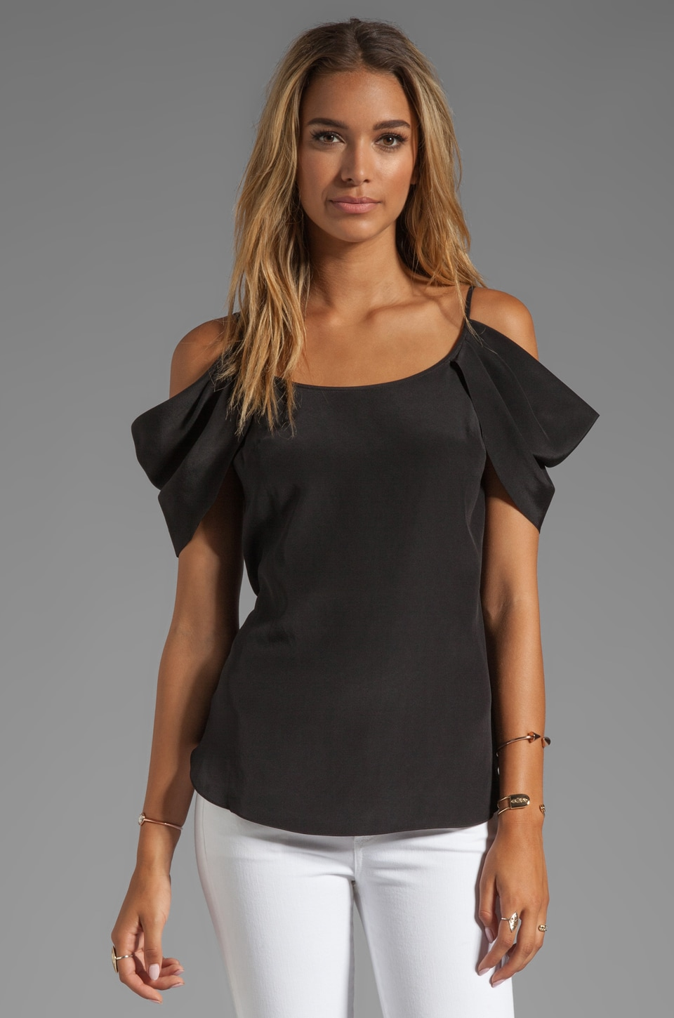 Jay Godfrey Shelby Blouse in Black
