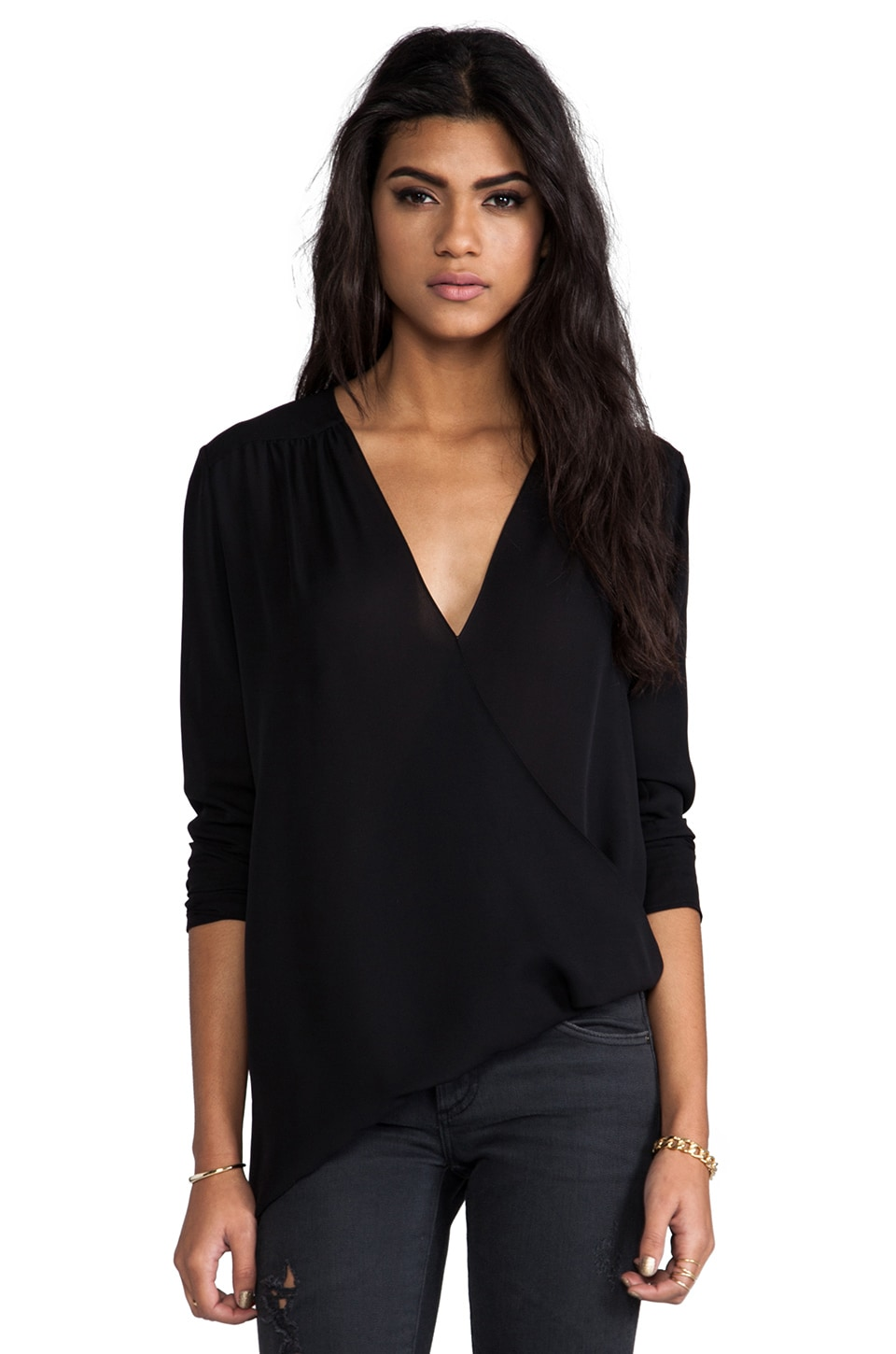 Jay Godfrey Waters Top in Black
