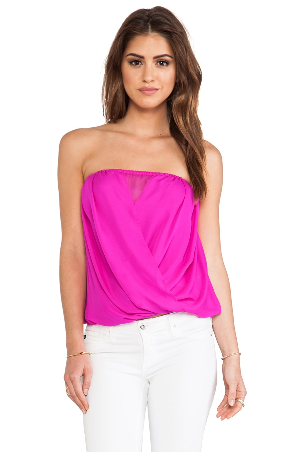 Jay Godfrey Schock Top in Fuchsia