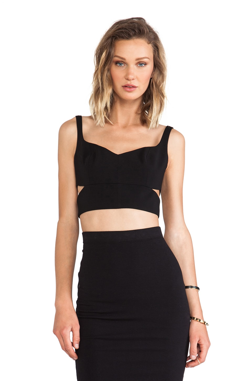 Jay Godfrey Lankford Top in Black
