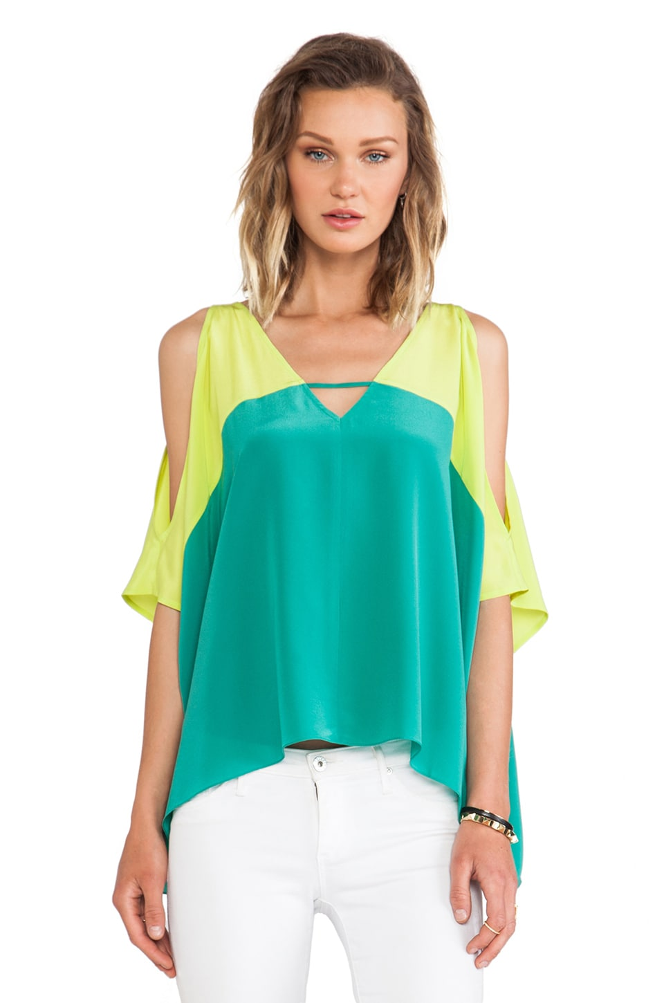 Jay Godfrey Watt Top on Hamilton Green & Citrine