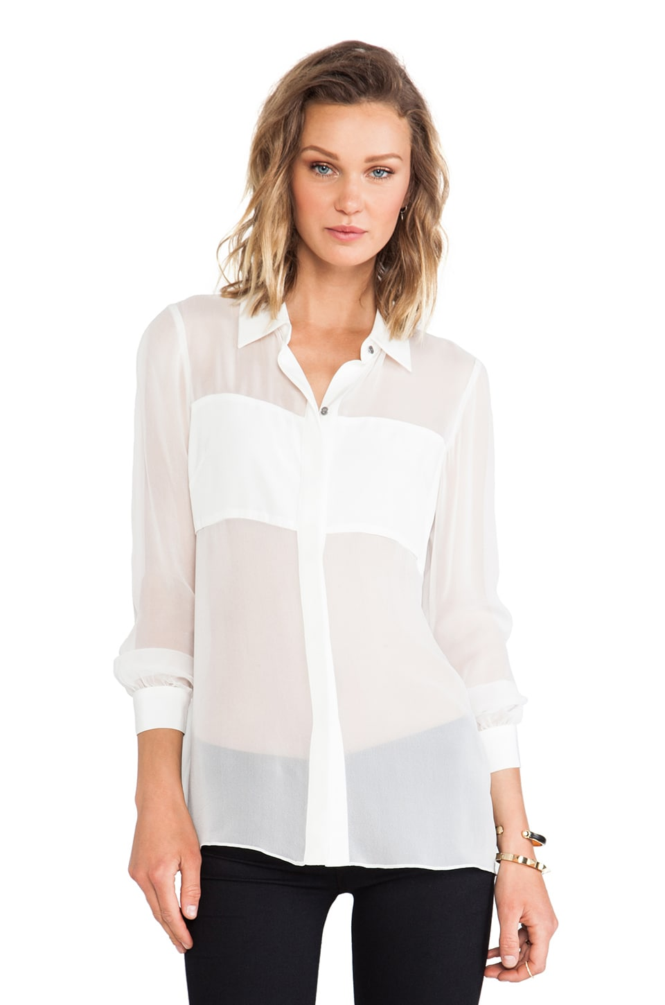 Jay Godfrey Cramer Top in White