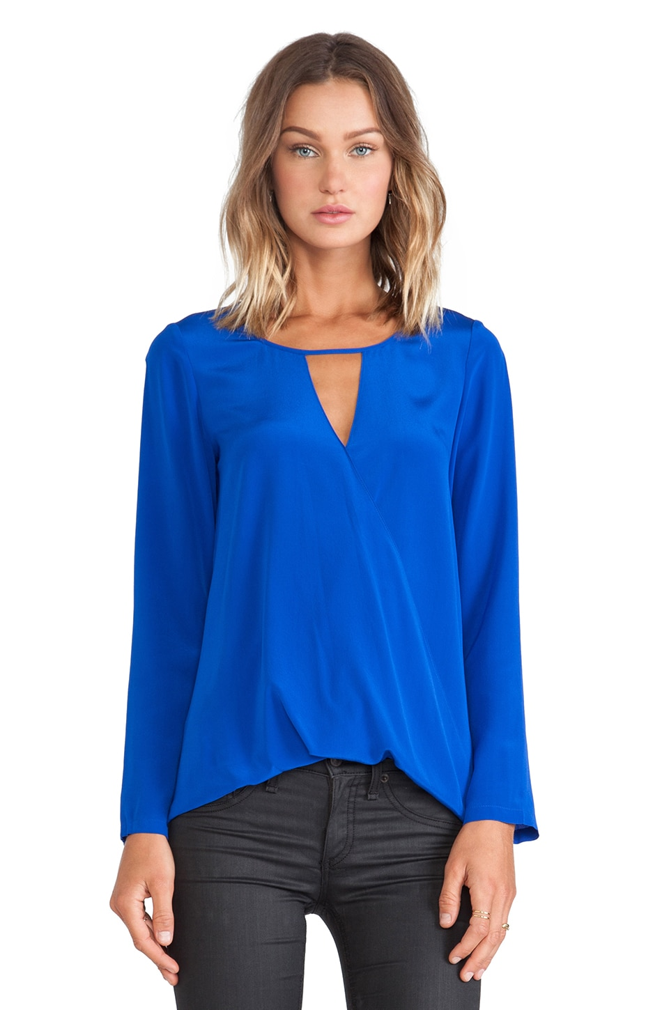 Jay Godfrey Chapman Top in Cobalt