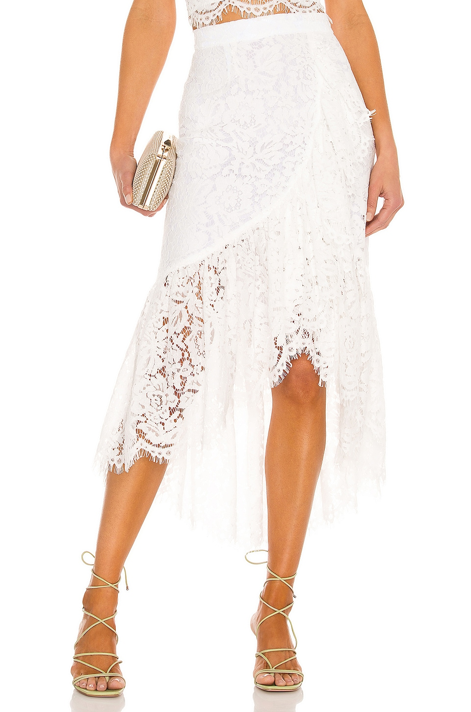 Just BEE Queen Carmella Skirt in White