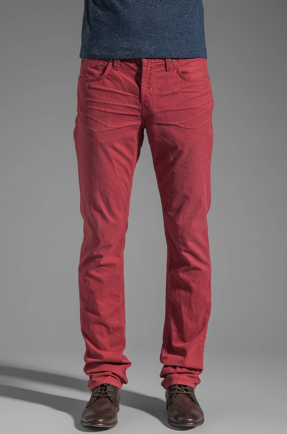 J Brand Kane in Artisan Frenzy Red