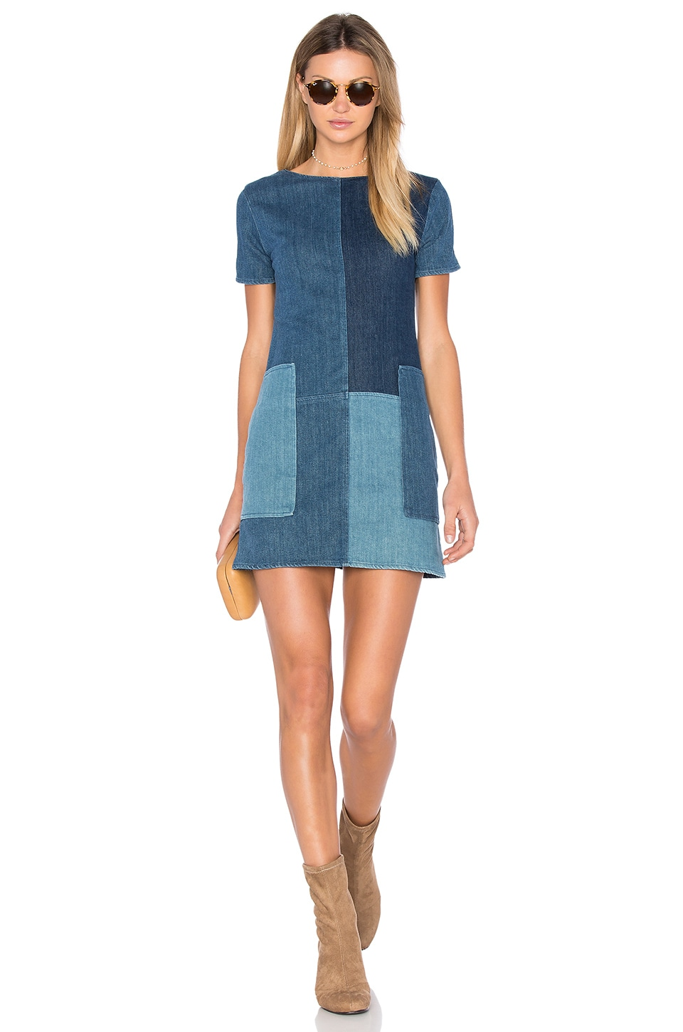 J Brand Luna Shift Dress in Rosemary Mix