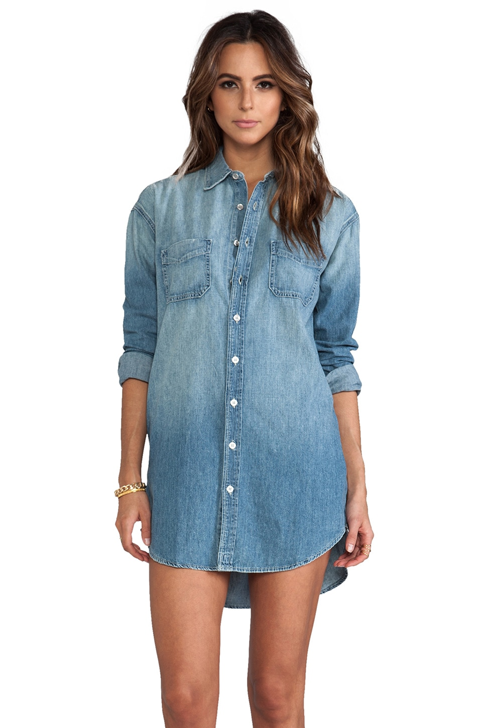 J Brand Manow Shirt Dress in Nimbus
