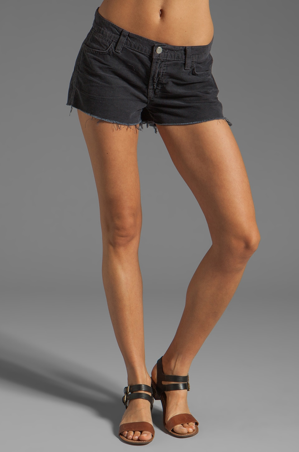 J Brand Cut Off Cord Shorts in Vintage Basin