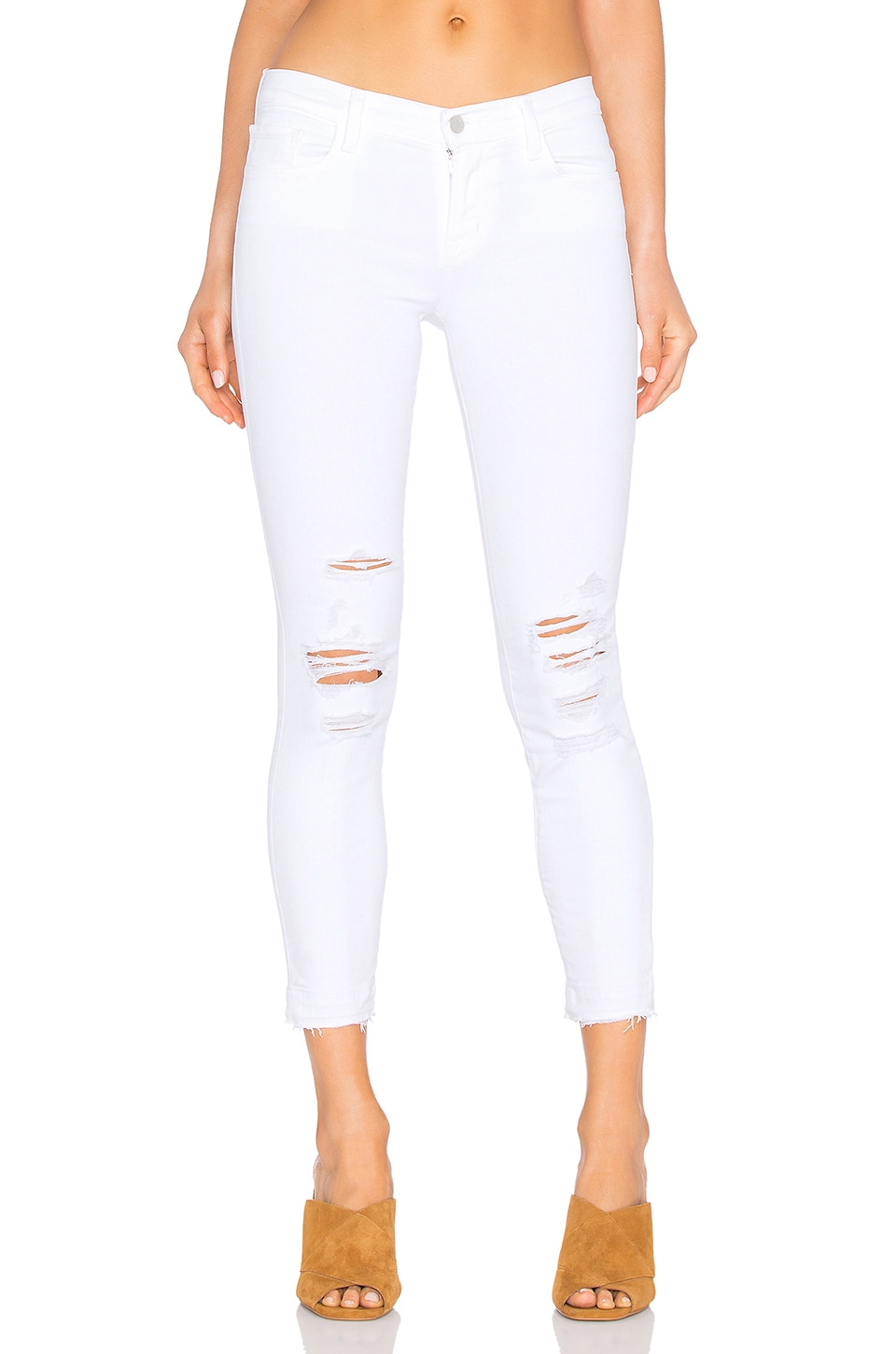 J Brand Low Rise Crop Skinny in Demented