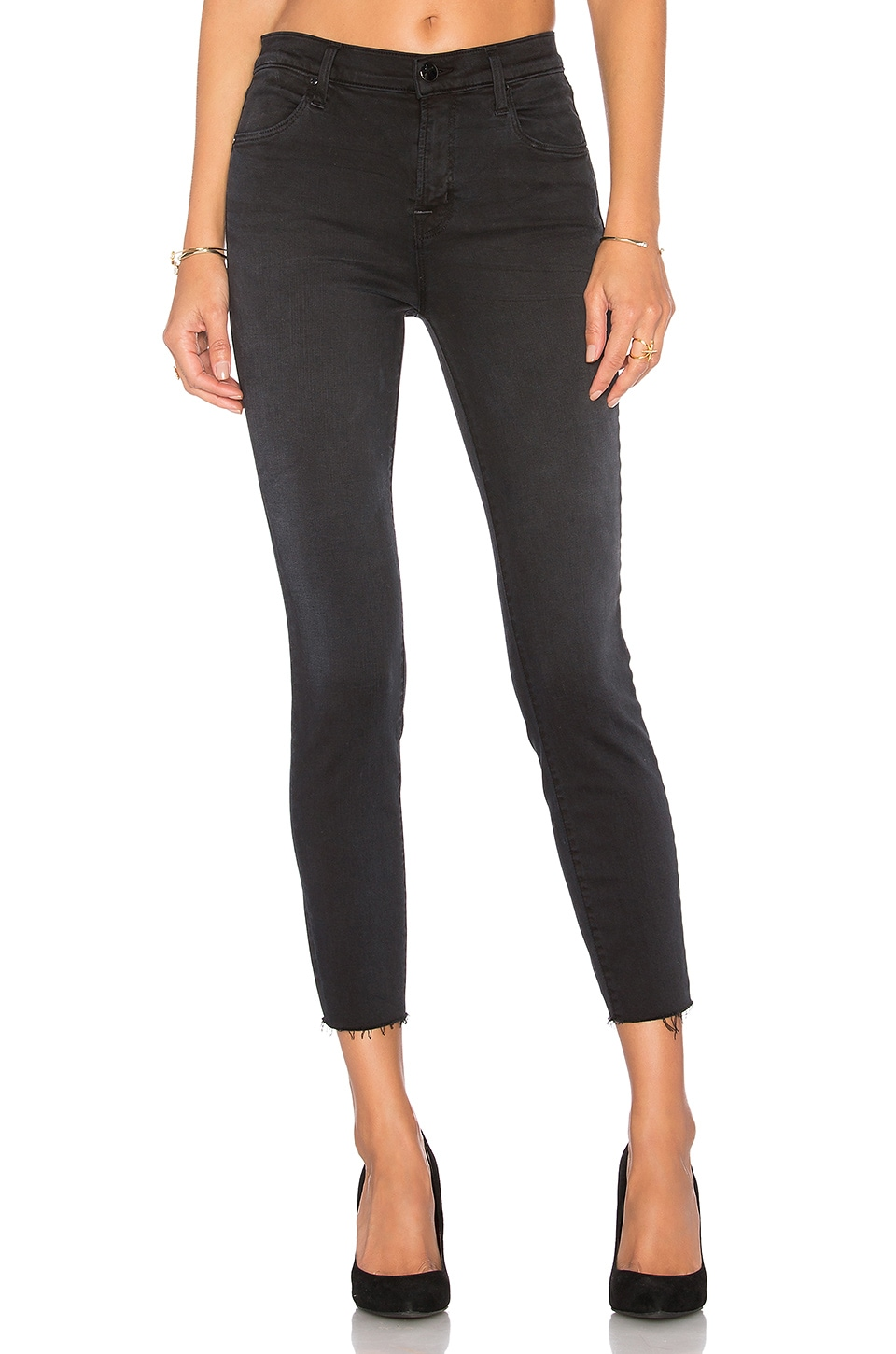 J Brand Alana High Rise Crop in Occult