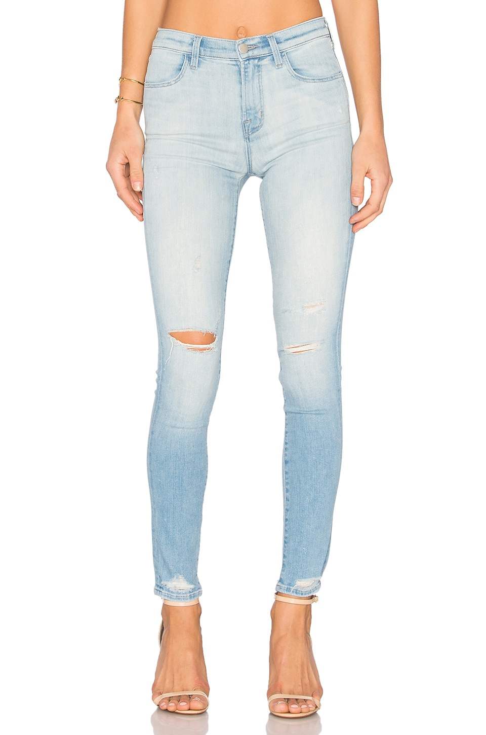 J Brand Maria High Rise Skinny in Superstar Destructed
