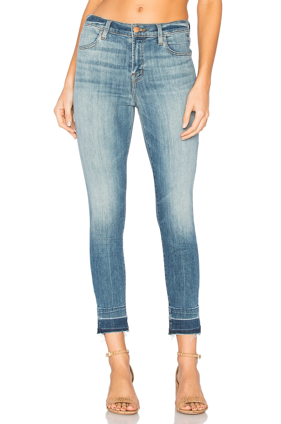 J Brand Alana High Rise Crop Skinny in Corrupted