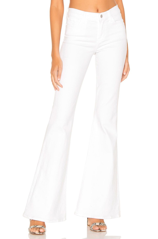 J Brand Valentina High Rise Flare in Blanc