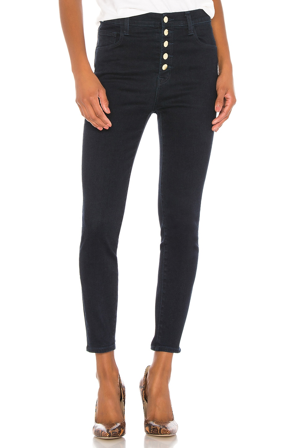 J Brand Lillie High Rise Crop Skinny in Penrose