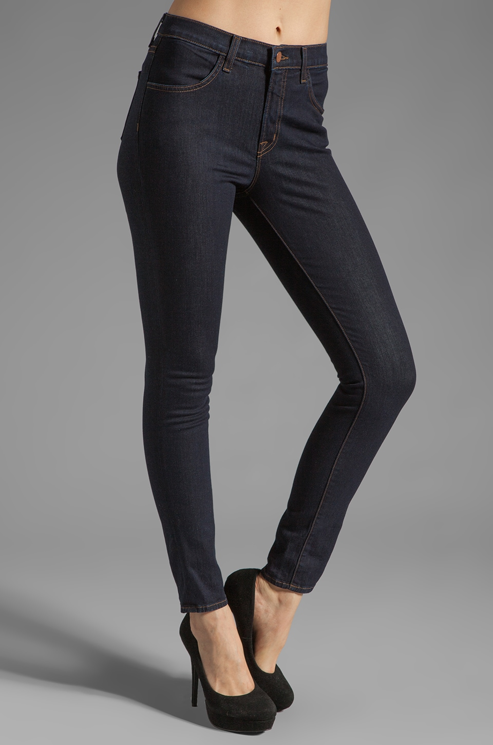 J Brand Maria High Rise Skinny in Starless