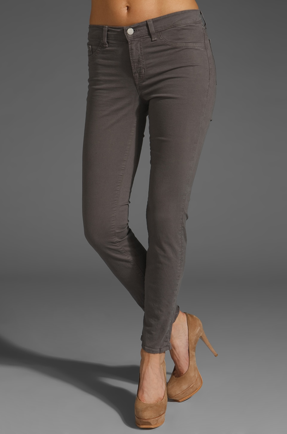 J Brand Twill Legging in Cafe