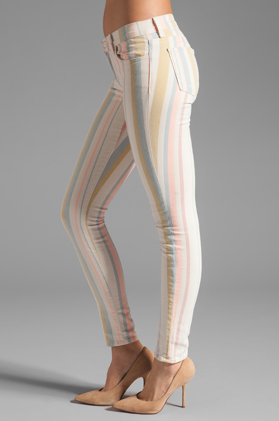 J Brand Low Rise Legging in Candy Stripe