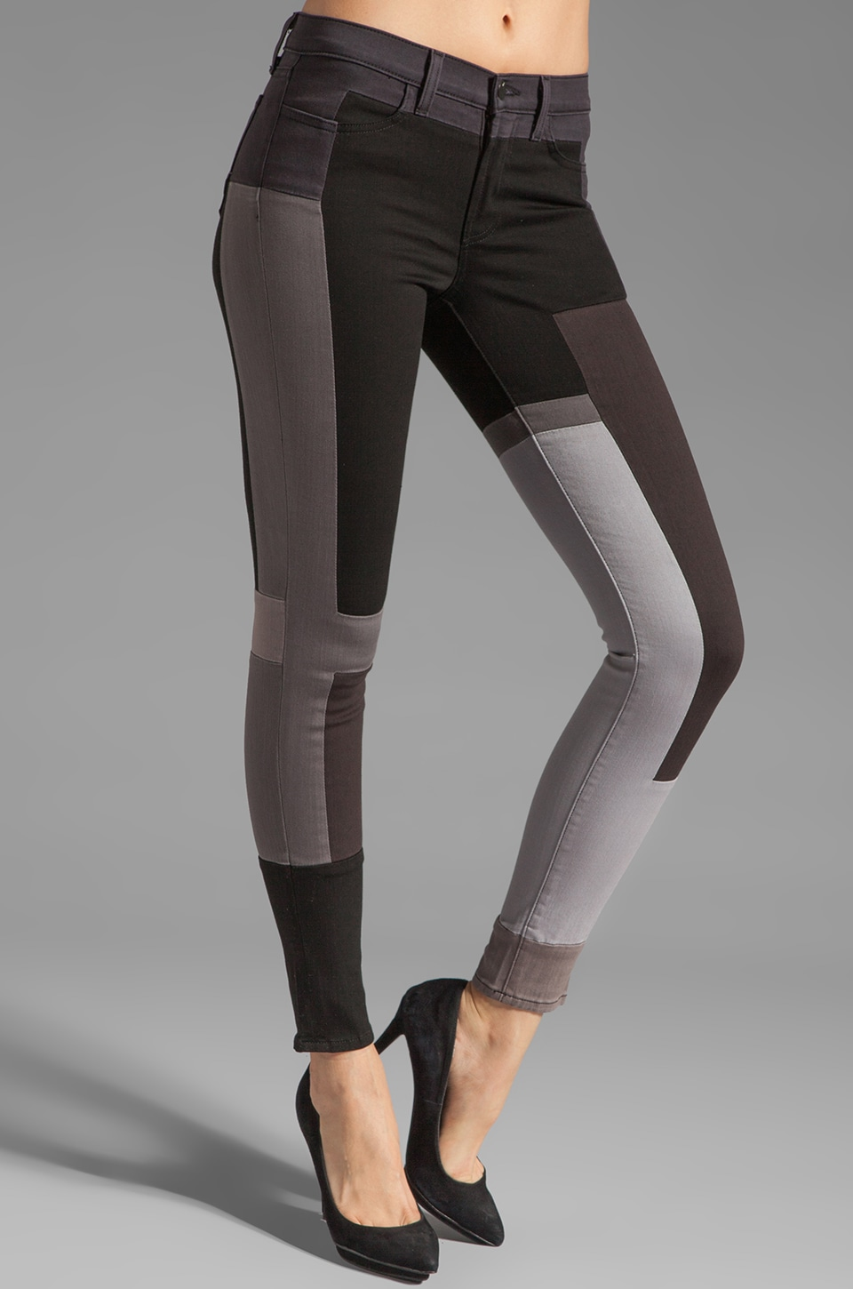J Brand Color Block Skinny in Slick