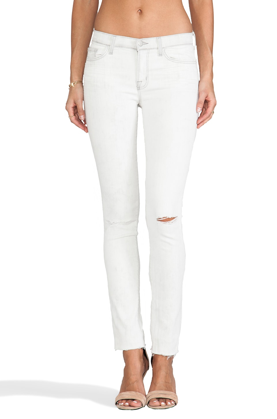 J Brand Distressed Skinny in Hysteria