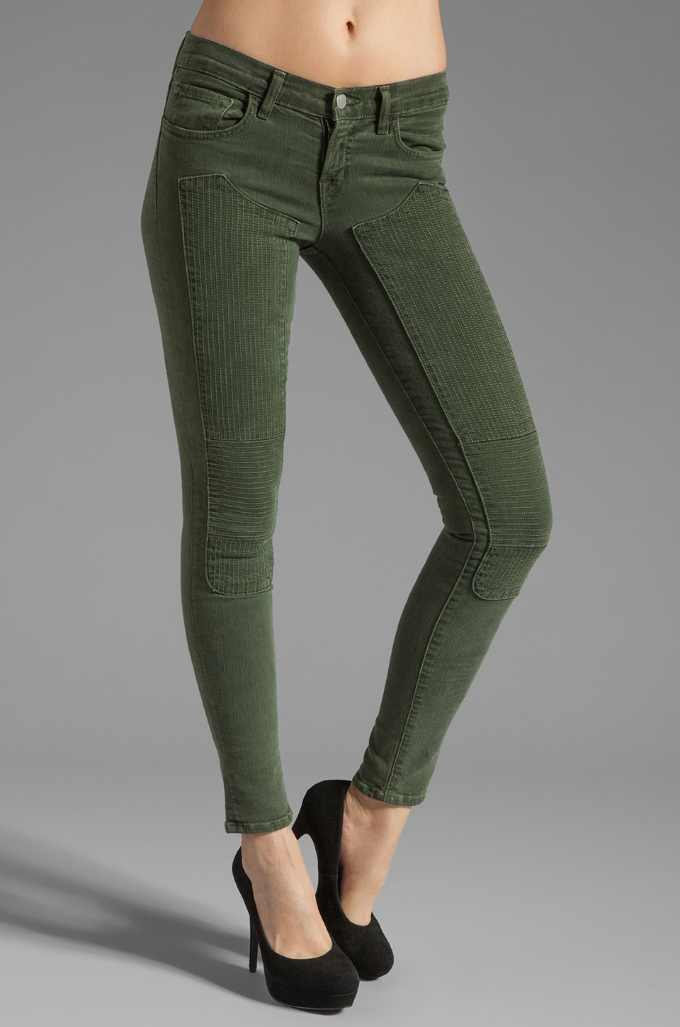 J Brand Jean Roz Skinny à coutures taille moyenne en Vintage Mantis