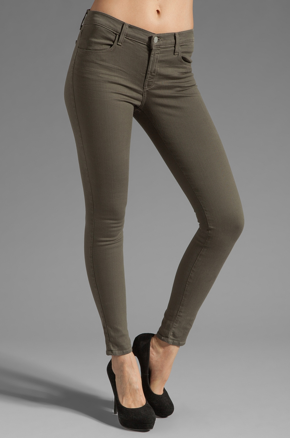 J Brand Super Skinny in Washed Mantis