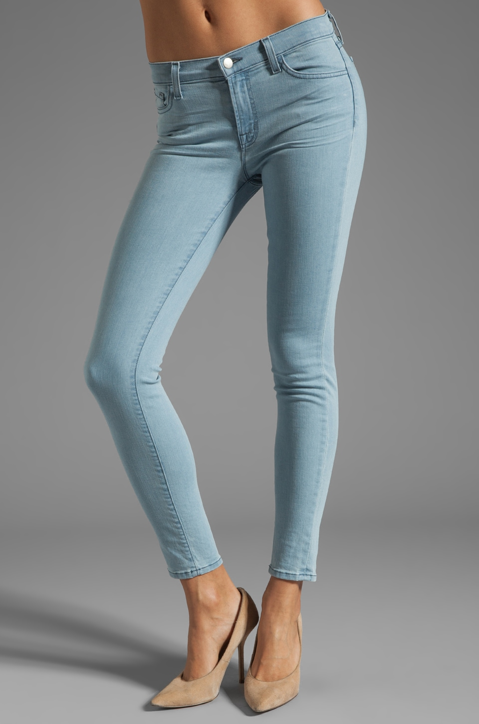 J Brand Mid Rise Skinny in Beautiful Blue