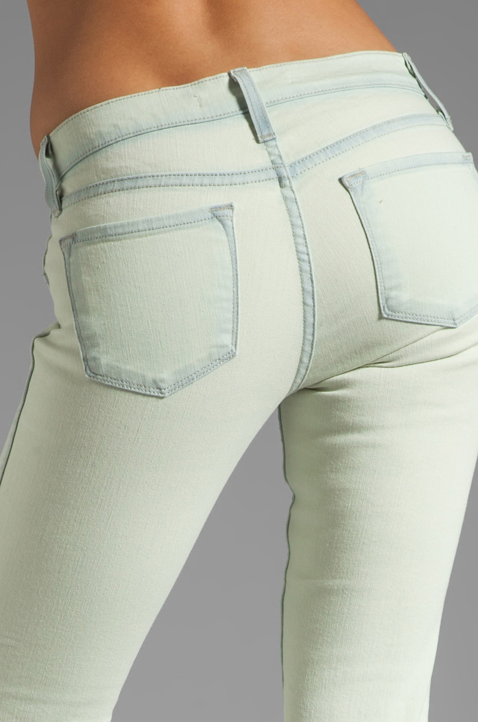 J Brand Low Rise Skinny in Nirvana Mint